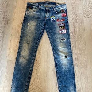 Frankie Morello Save Planet Men Skinny Jeans Sz:34